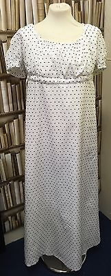 Regency Style White Cotton Lawn Gown. MAKE AN OFFER!