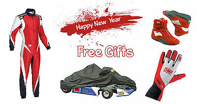 Go Kart Racing Suit include Happy new year gifts Shoes , Gloves , Kart Cover