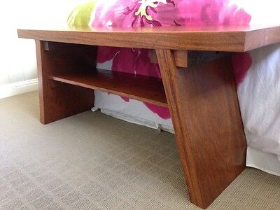 Custom made Japanese bench/  seat/table made from hardwood timber