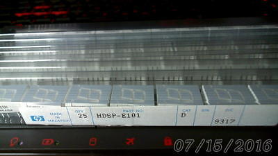 QTY 50   HDSP E101 RED 7 Seg Low Current LED CA Display by HP QTY 50 NOS