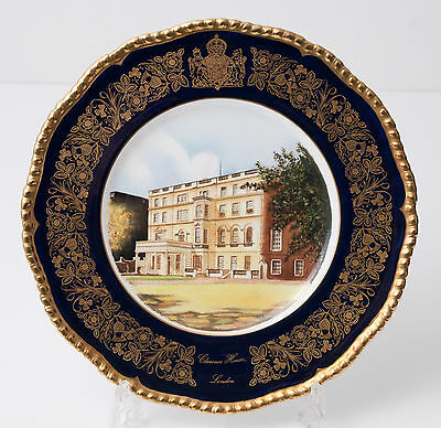 Coalport China Clarence House Queen Mother 80th Year Commemorative Plate