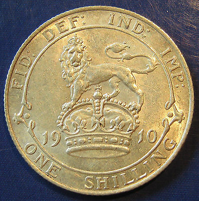 1910 1/- Edward VII silver Shilling in an exceptional grade