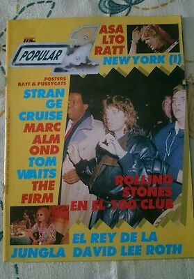 Revista Popular 1 N° 155 Magazine Rolling Stones The Firm Tom Waits Poster Ratt