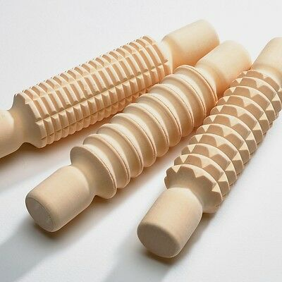 Pottery Clay Making Modelling Clay Pattern Rollers - Rrp £19.99