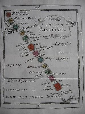 1682 - DU VAL - Miniature map MALDIVES