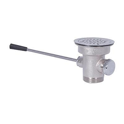 BK Resources BK-SLW-2 Straight Lever Waste Drain w/ Overflow Outlet & Cap