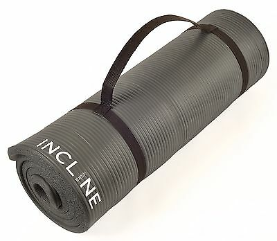Incline Fitness Extra Thick and Long Comfort Foam Yoga/Exercise Mat with Carr...
