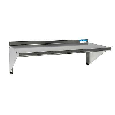 "BK Resources BKWS-1630 30""Wx16""D Stainless Steel Wall Mount Premium Shelf"