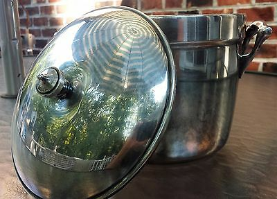 Vintage Crescent Silver Plated Ice Bucket wth Insert