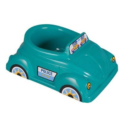 Turquoise Musical Potty Car Police/Taxi Potty Training
