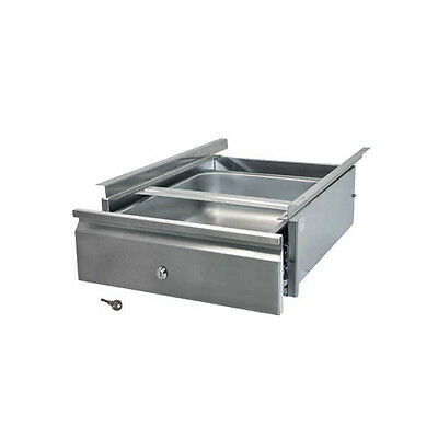 """BK Resources 20""""Wx15""""D Self Closing Stainless Steel Drawer Assembly"""