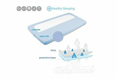 Breathable & waterproof fitted sheet, mattress protector for cot, toddler bed