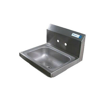 "BK Resources BKHS-W-1410-4D 14""W Wall Mount Hand Sink without Faucet"