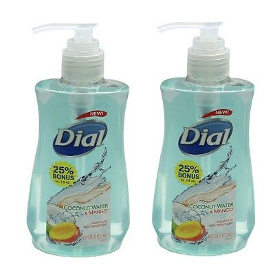 Dial Liquid Antibacterial Hand Soap Coconut Water Mango 9.375 oz 2 pk