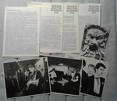 Siouxsie & The Banshees Early Fanclub newsletters  File Two + photographs Rare