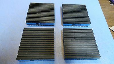 """4 – Wagner MP-4E Air Compressor AV Mounting Pads Just under 4"""" x 4"""" & 7/8"""" thick"""