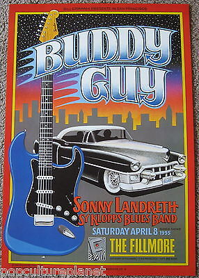 BUDDY GUY POSTER - 1995 The Fillmore San Francisco F183-PO 1ST PRINTING w/ C.O.A
