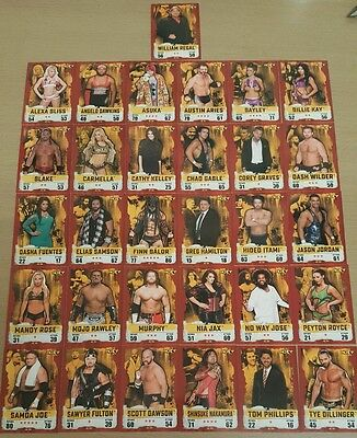 wwe slam attax takeover complete set of nxt superstars