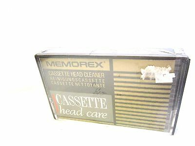 AUDIO CASSETTE TAPE SEALED - 1x (one) MEMOREX HEAD CLEANER - Dry Type