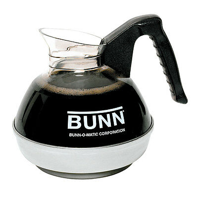 Bunn EASYPOUR-0106 Set of 6 Easy Pour 64oz Coffee Decanters w/ Black Handle