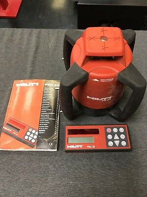 HILTI PR 25 IF Rotating Laser Level W/ PRA 26 Laser Detector-Remote (used)
