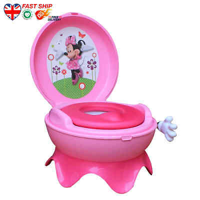 Disney Baby Minnie Mouse 3-in-1 Potty System - Pink FAST Ship UK Buy NOW Top