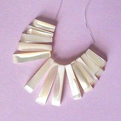 13 piece, mother of pearl, tapered pendant set, for jewellery making crafts