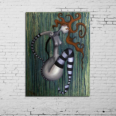 Hand-painted Abstract The Clown Botanical Wall Art oil painting home decor