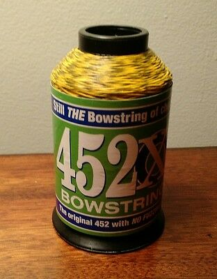 BCY 452X Compound Bowstring Making Material 1/4lb Yellow/Black Mixed Color