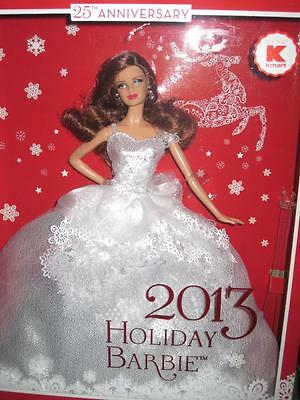 2013 25th ANNIVERSARY HOLIDAY Barbie Collector Auburn Hair Exclusive #X9194 NRFB