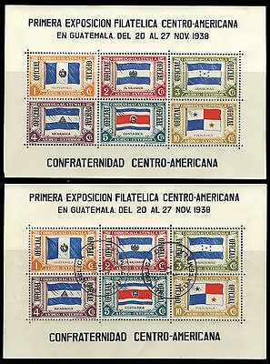 "1938 Guatemala Scott #C99 1 MNH & 1 FDC"" Flags of Central America""  CV $16.00"