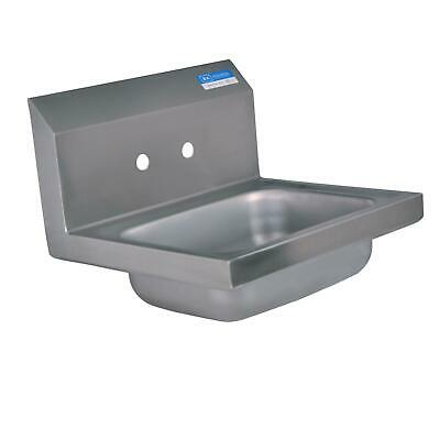 "BK Resources BKHS-W-1410 14""W Wall Mount Hand Sink without Faucet"