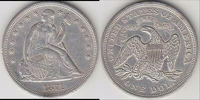 Just Reduced!! 1871 Seated Dollar Au