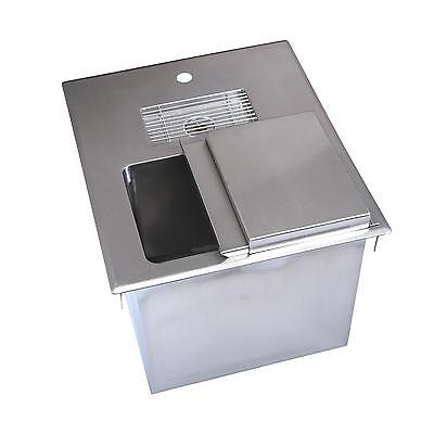 "BK Resources 18""W Stainless Steel Drop-In Ice Bin with Water Station"