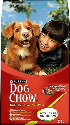 Purina Dog Chow Dry Dog Food with Real Lamb and Rice 15kg