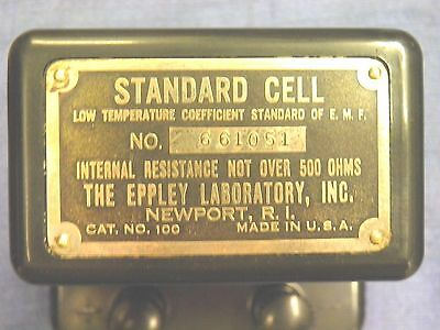 M) Standard cell, Eppley Laboratory Inc. Cat # 100, 1.019 volts, tested good