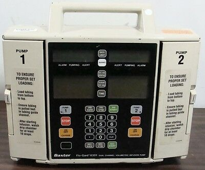 Baxter Flo-Gard 6301 Dual Channel Volumetric Infusion Iv Fluid Pump 30 Warranty!