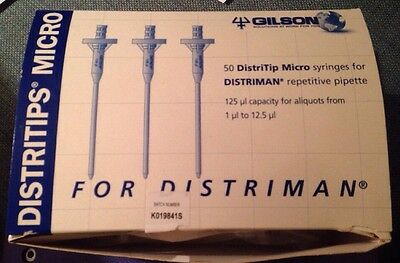Gilson Distritips 125ul Micro Qty50 Syringes For Distriman Repetitive Pipette