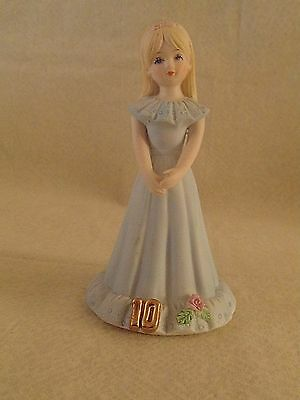 Vintage Enesco Growing Up Girls 10th Birthday Figurine