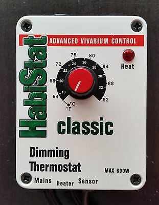 Habistat Dimming Thermostat 600W Reptile Heat Cord Lamp Heating Control