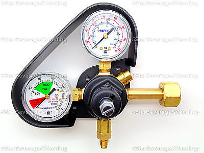 Taprite High Pressure Dual Gauge Co2 Regulator With Gauge Protector 0-160Psi