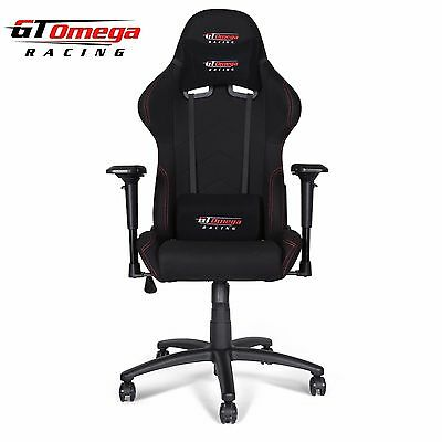 Gt Omega Pro Racing Gaming Office Chair Black Fabric Esport Seat Ak
