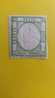 Italy Rare 1/2t 1861 MNH Stamp With Inverted Head Error as Per Photos CV=450.00