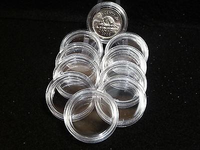 CANADIAN:  COIN CAPSULES   22 mm (5 CENT NICKELS)  (pkg of 10 )   (#2)