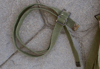 WW2 KG3 PATT 37 ACCESORY STRAPS (PAIR) for LARGE PACK USED - CANADIAN MADE