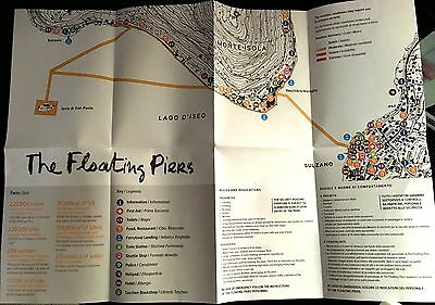 The Floating Piers Collector Original Brochure Iseo Lake 2014-2016