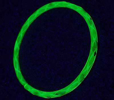 1pc Antique Yellow Gilded Uranium Vaseline Glass Bangle Bracelet Rings 60mm
