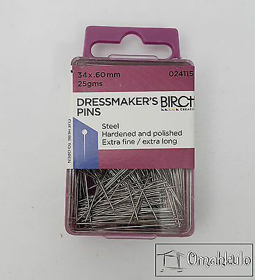 BIRCH - Dressmakers Pins 34mm x .60mm - 25 grams - Dressmaking -*