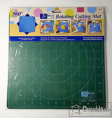 BIRCH - 30cm x 30cm Rotating Craft Self Healing Cutting Mat