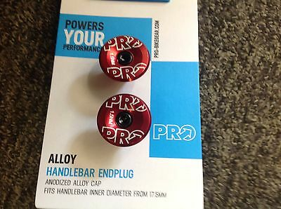 Pro Bar End Plugs Red Alloy 17g